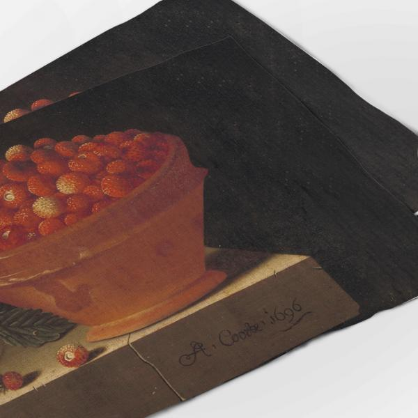 Placemats set / A Bowl of strawberries on Stone Plinth