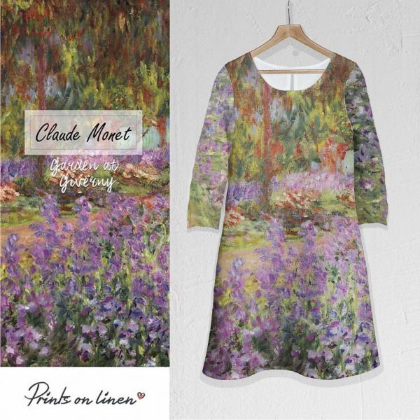 Linen dress / Garden at Giverny