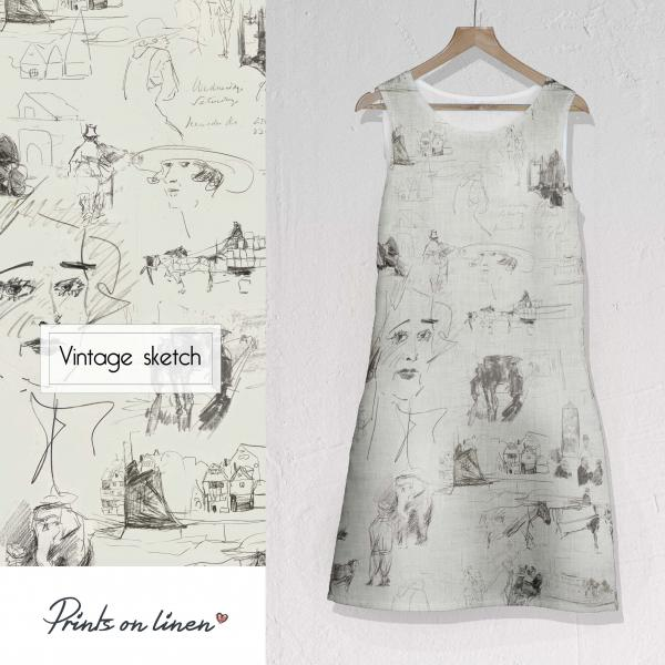 Women dress  / Vintage Sketch