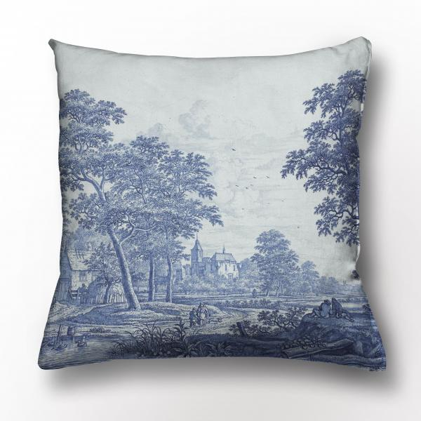 Cushion cover /  Landscape with castle