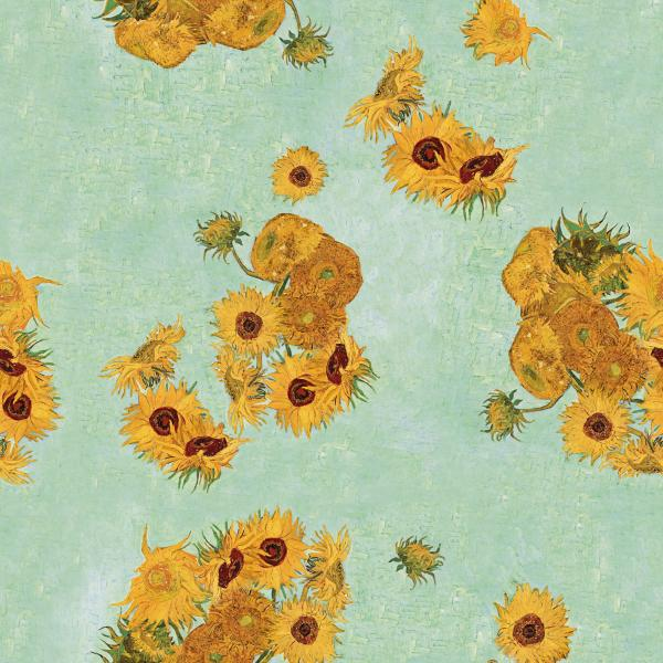 Sunflowers Turquoise