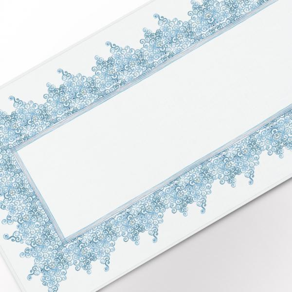"""Table runner """"Light blue laces pattern"""""""