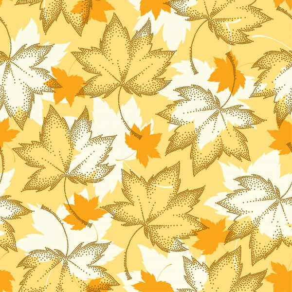 Abstract autumn background with decorative falling maple leaves for September design.