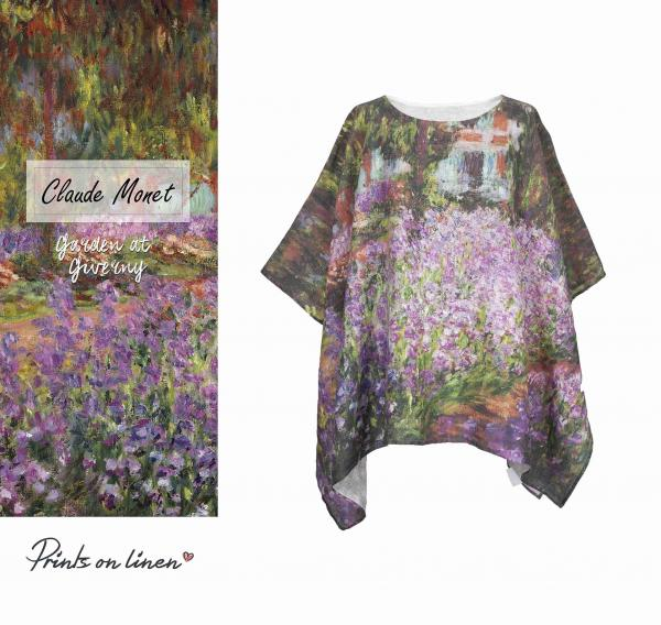 One size tunic / Garden at Giverny