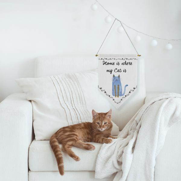 Wall banner - for cat lovers