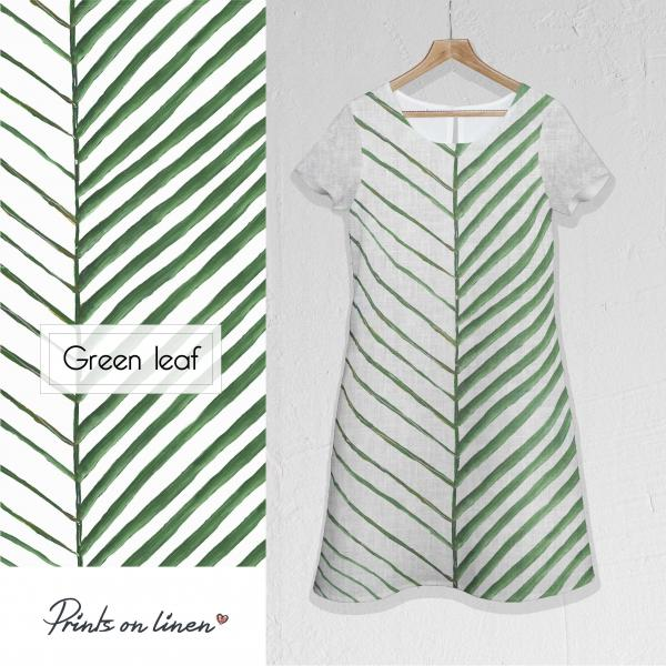 Linen dress / Green Leaf