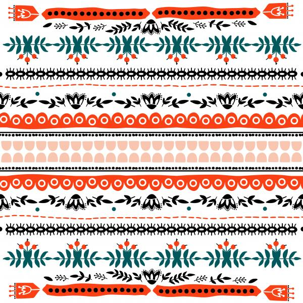 Decorative pattern of embroidery Imitation