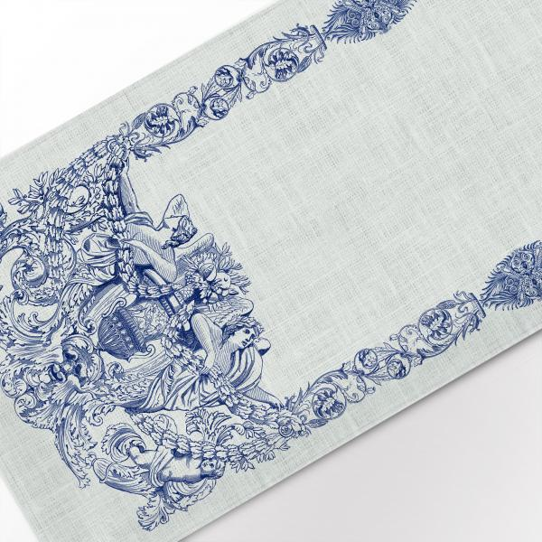 Table runner / Ancient Blue