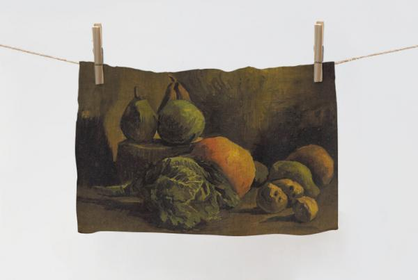 Towel / Still Life with Vegetables and Fruit