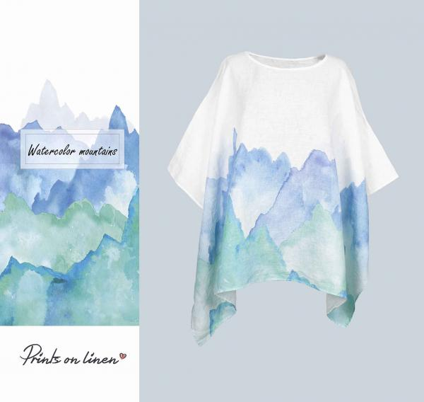 One size tunic / Watercolor Mountains