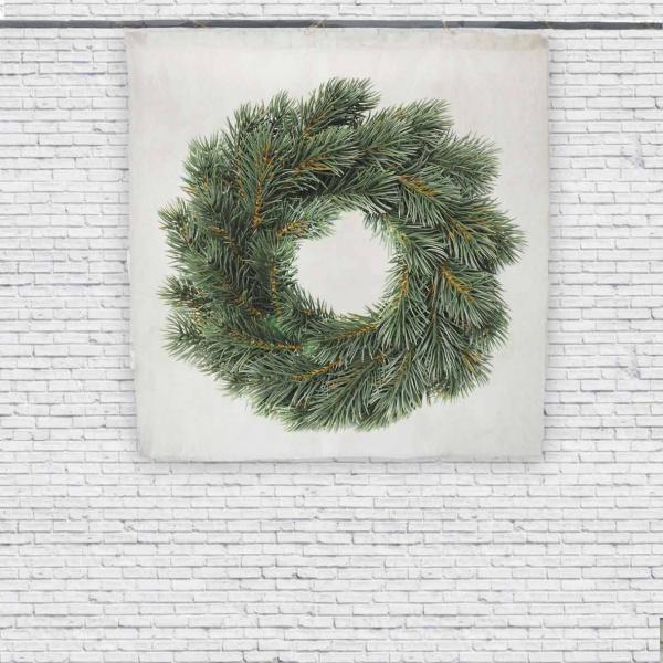 Wall tapestry / Christmas Wreath