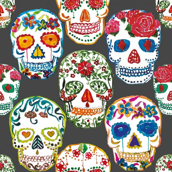 Skulls black background