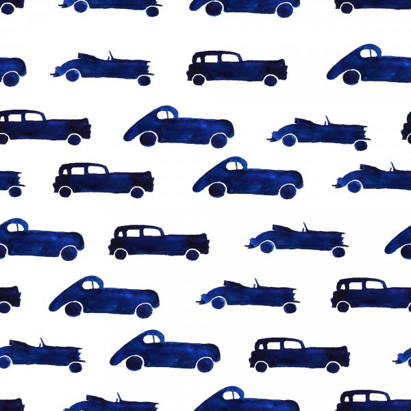 Hand drawn retro cars