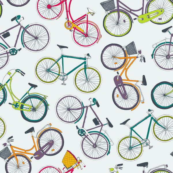 colorful city bikes