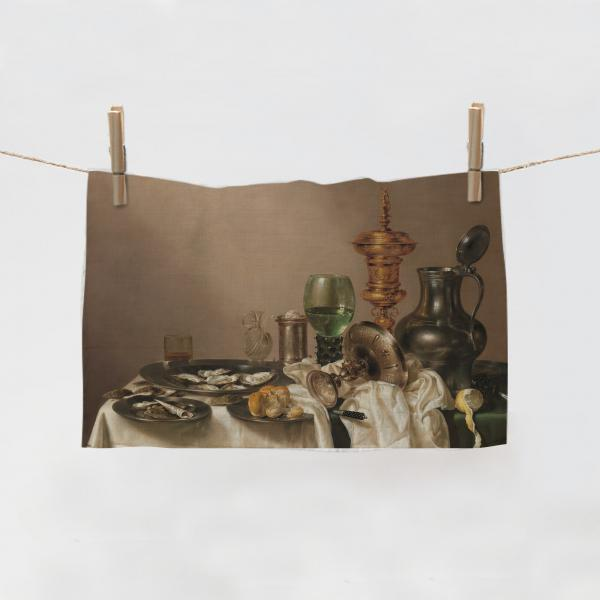 Kitchen Towel / Still Life with a Gilt Cup