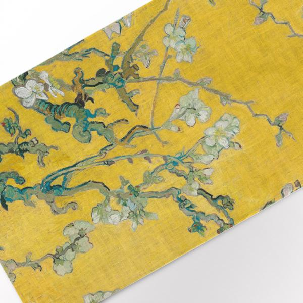Table runner / Almond Blossom (yellow edition)