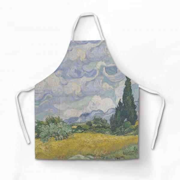 Apron / Wheat field with Cypresses