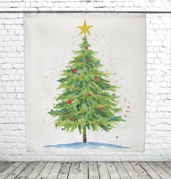 Christmas Tree / Watercolor decor