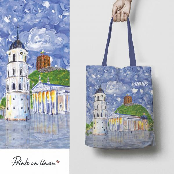Tote bag / Let's meet in Vilnius