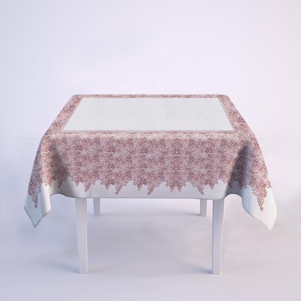 """Tablecloth """"Red laces pattern"""""""