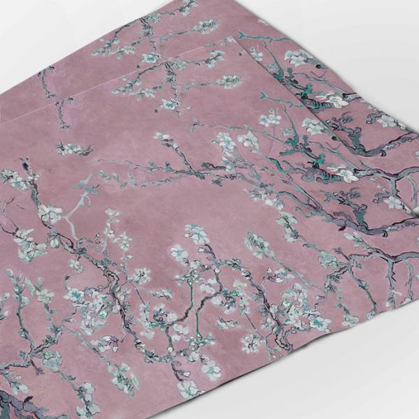 """Placemats """"Almond blossom"""" / Silver pink"""
