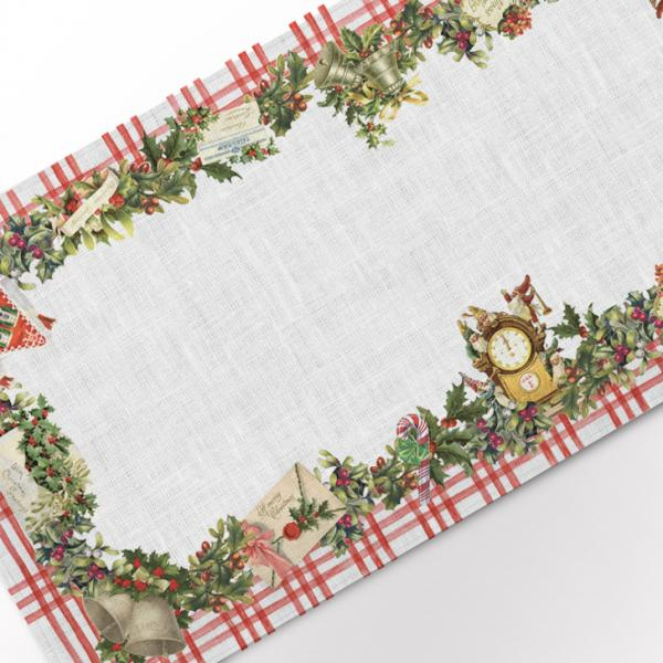 Table runner / Christmas Letters (Ornaments)