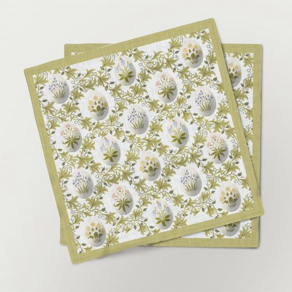 Napkins set /  Celandine / Easter edition