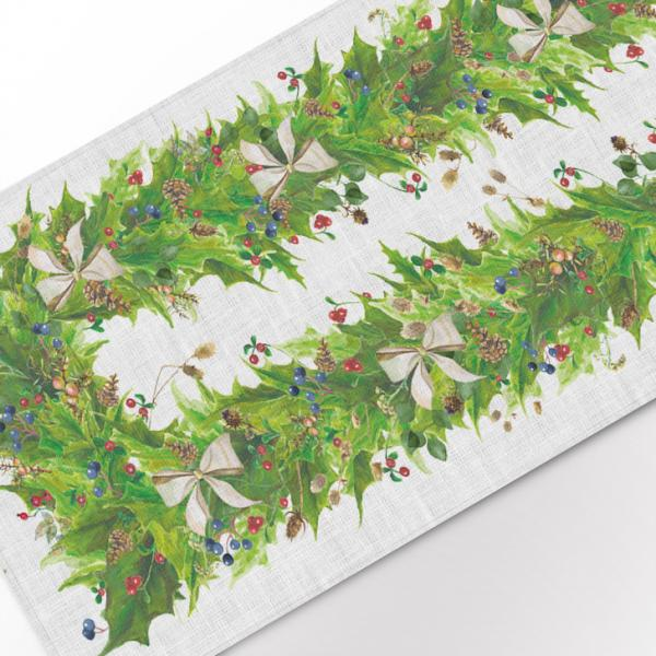 Table runner / Gold Christmas