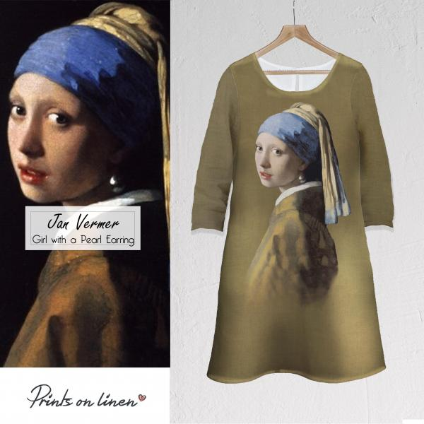 Linen dress / Girl with a Pearl Earring