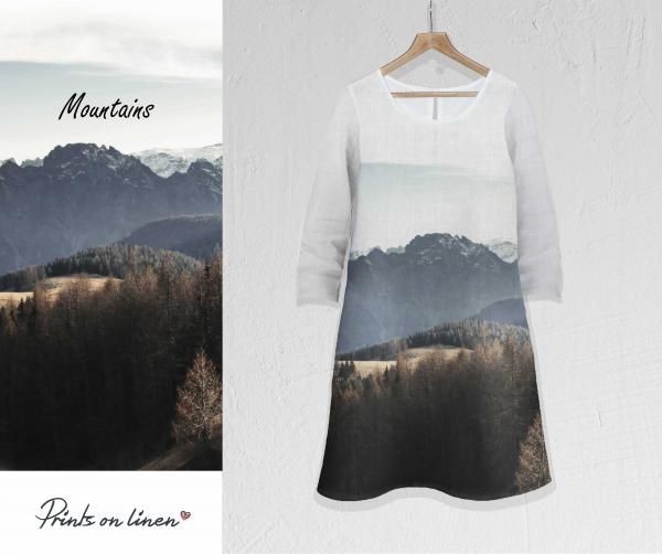 Linen dress / Mountains