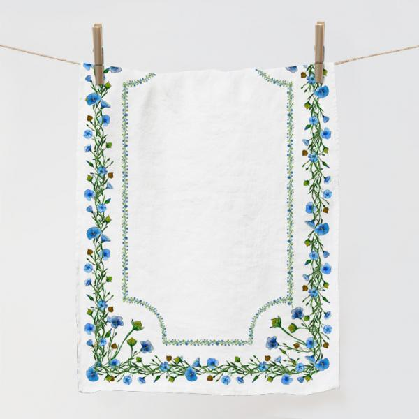 "Kitchen towel ""flax"" with frame"