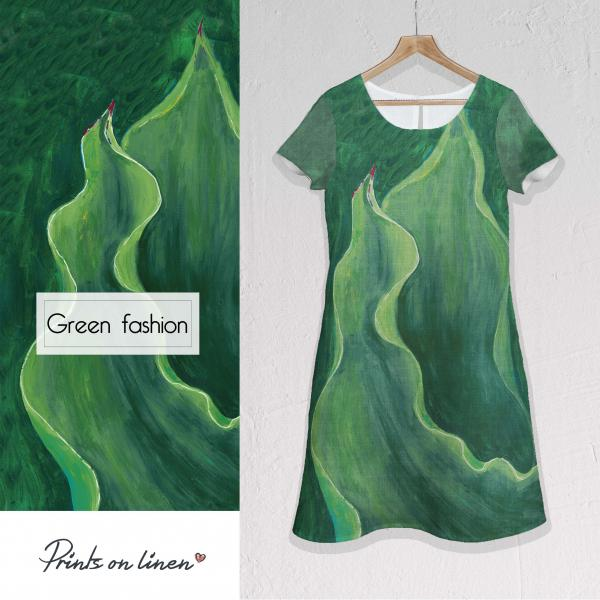 Linen dress / Green fashion
