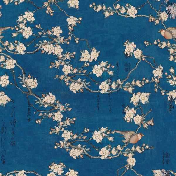Hokusai flowers and birds