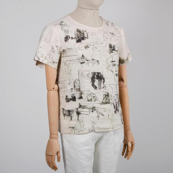 Men shirt / Vintage Sketch