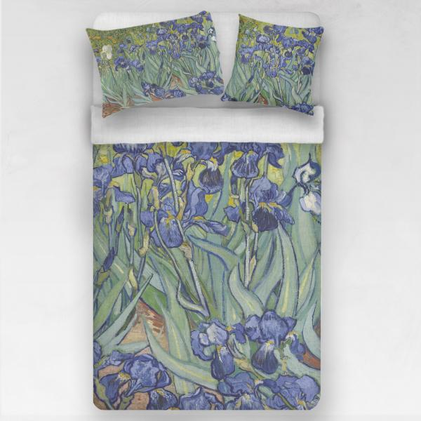 Linen bedding set / Irises