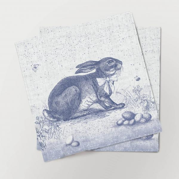 Napkins set /  Toile de Jouy Easter