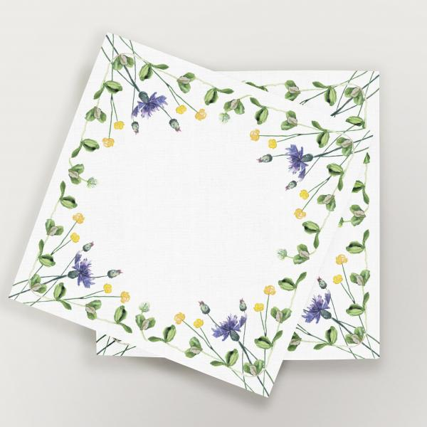 Napkins 32x32 cm (6 units set) cornflowers