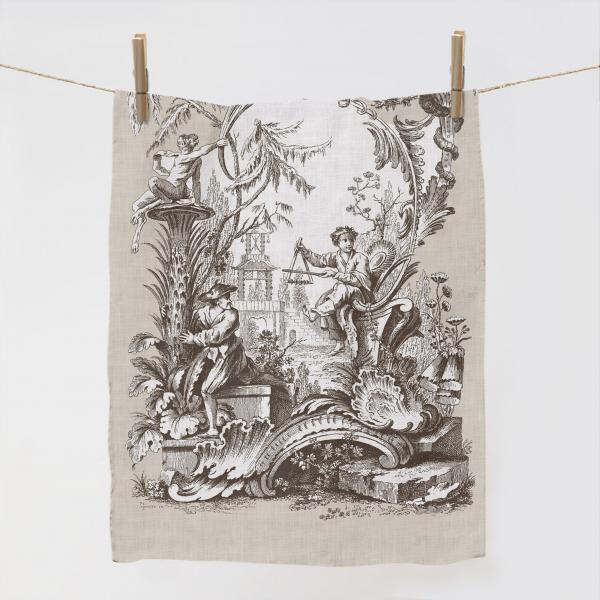 Towel / Ornaments Chinois Beige