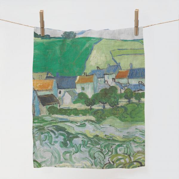 Kitchen towel / View of Auvers