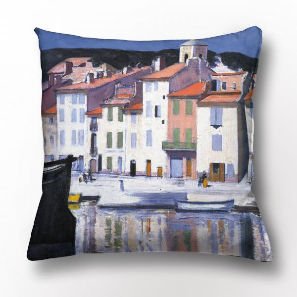 Cushion cover / The Harbour, Cassis
