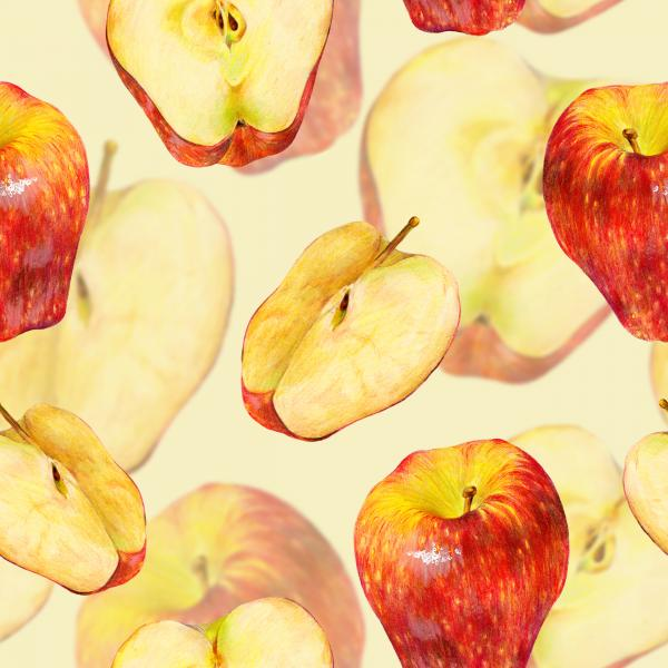 Pattern with red apples