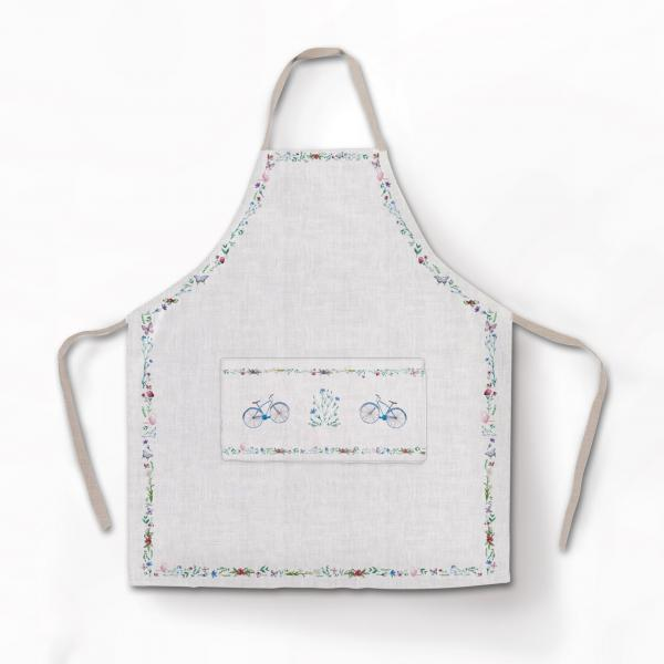 Apron / Bicycle and Butterfly