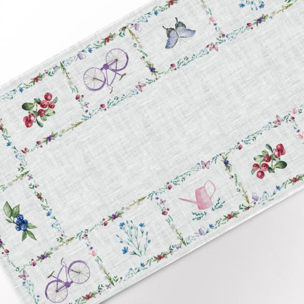 Table runner / Bicycle and Butterfly