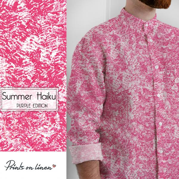Mens shirt / Summer Haiku (Purple)