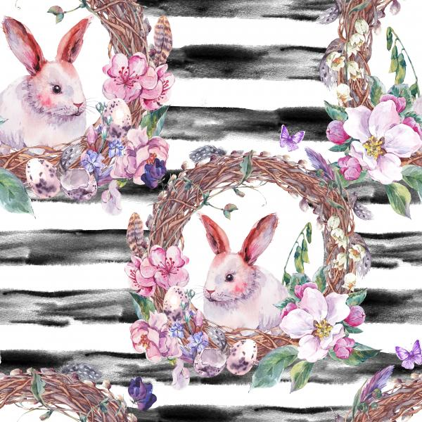 Watercolor spring Happy Easter Pattern