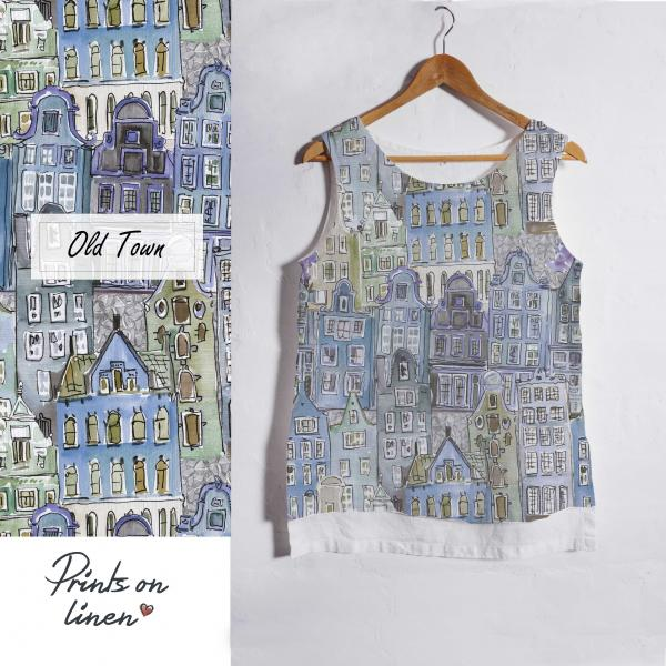 Linen tank top / Old Town