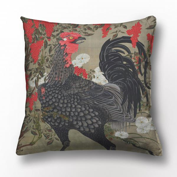 Cushion cover / Nandina and Rooster