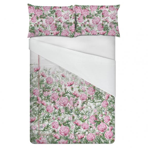 Linen bedding set / Peonies