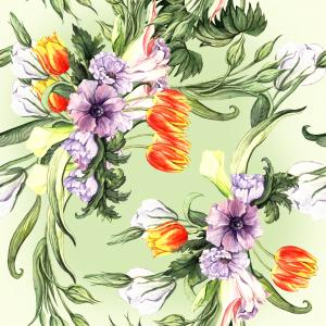 Spring flowers watercolor