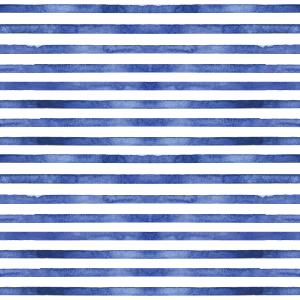 Pattern with watercolor indigo stripes